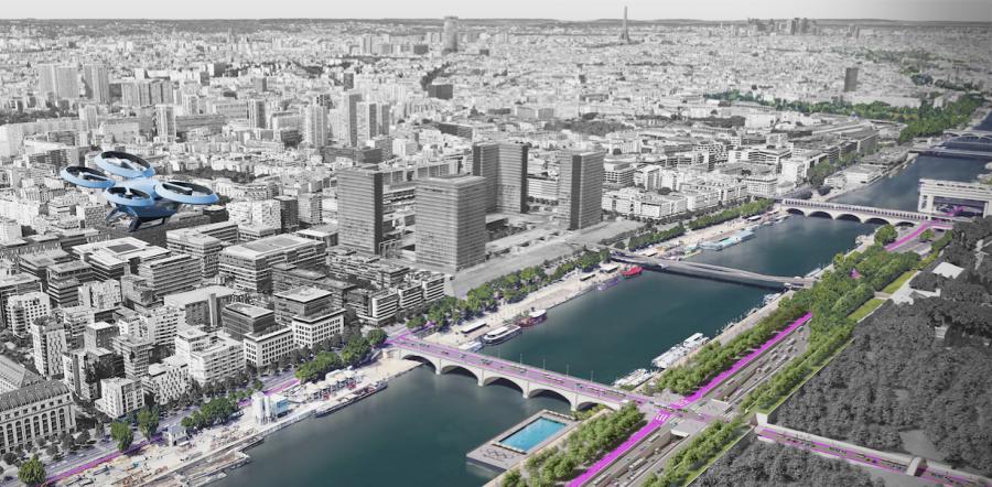 Les routes du futur du Grand Paris, 2018-2019 © RSHP 2019.