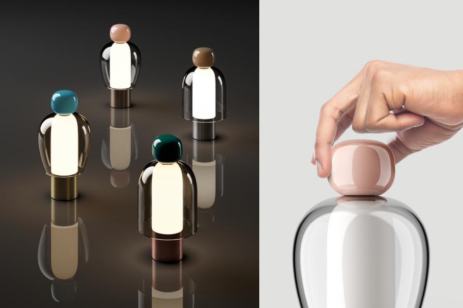 Lampe Easy Peasy par Luca Nichetto pour Lodes Luca
