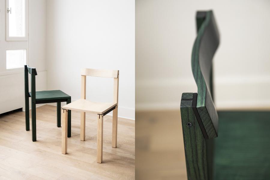Chaise Tal par Léonard Kadid pour Kann Design