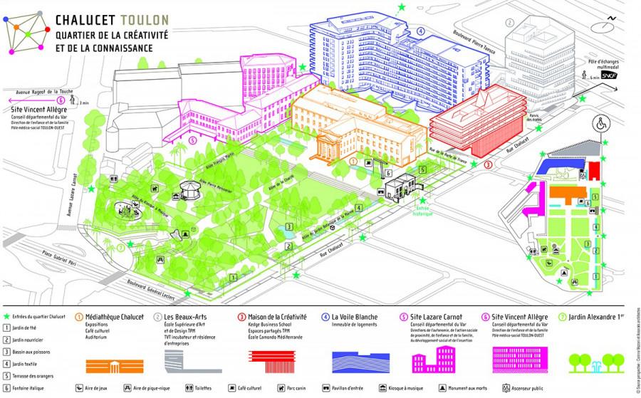 Plan du Quartier Chalucet, Toulon - Corinne Vezzoni et Associés