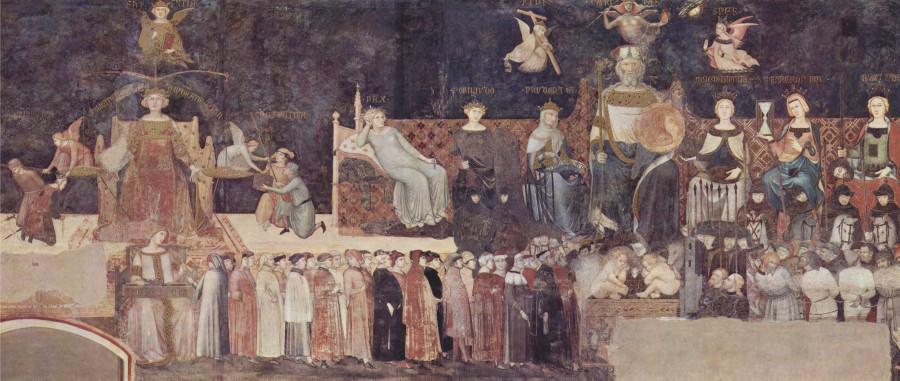 Ambrogio Lorenzetti, Allégorie du Bon Gouvernement, 1338-1339
