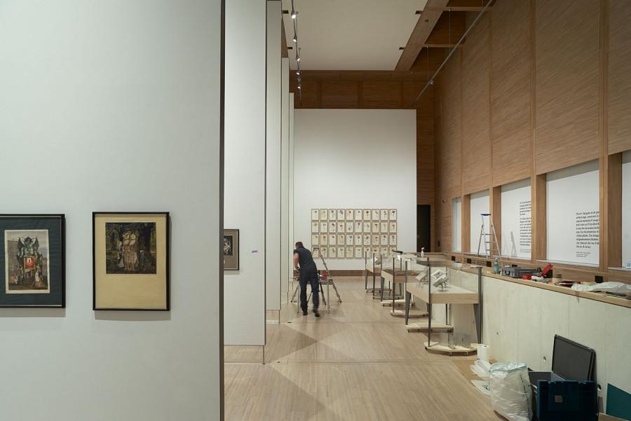 Salle d'exposition, Fondation Jan Michalski © Julien Lanoo