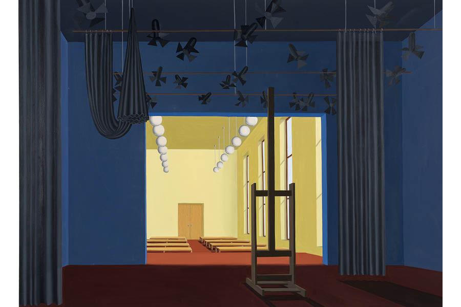 Thomas Huber, Corona, 2020, huile sur toile, 120 x 160 cm | © Winfried Mateyka - Courtesy: Thomas Huber & Galerie Skopia