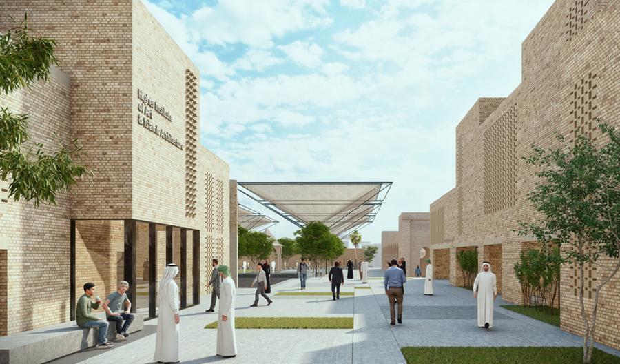 Project « Courtyards dialogue » main entrance © UNESCO – Salah  Hareedy; Khaled El-Deeb;  Sherif Ebrahim & Tarek Ali Mohamed