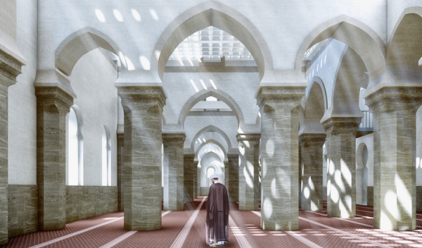 Project « Courtyards dialogue  » prayer hall © UNESCO – Salah  Hareedy; Khaled El-Deeb;  Sherif Ebrahim & Tarek Ali Mohamed