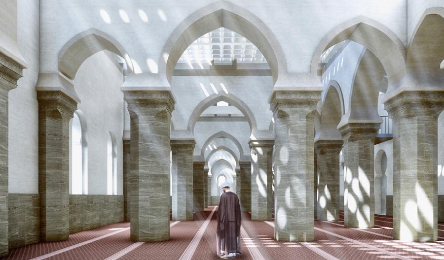 Project « Courtyards dialogue  » prayer hall © UNESCO – Salah  Hareedy; Khaled El-Deeb;  Sherif Ebrahim & Tarek Ali Mohamed