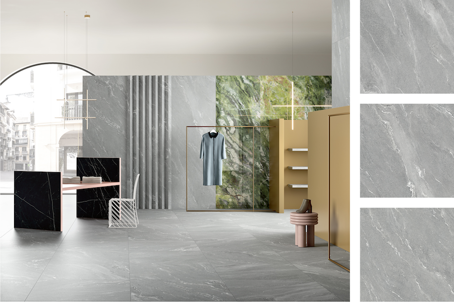 Collection Pietre Maximum, texture Quarzite Vals ©Fiandre Architectural Surfaces
