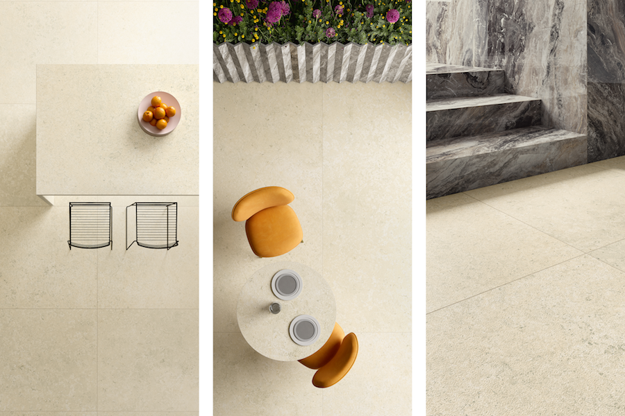 Collection Pietre Maximum, texture Luna Limestone ©Fiandre Architectural Surfaces