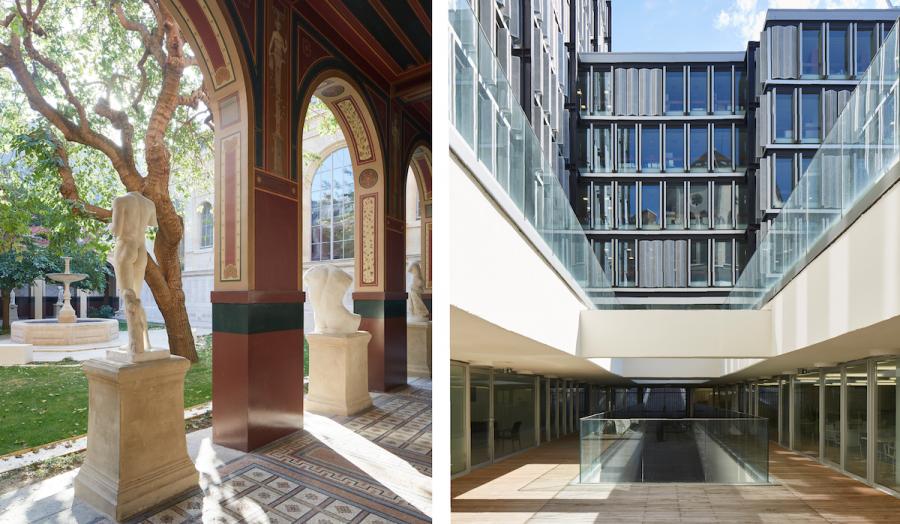Beaux-arts de paris (à droite) | Maison des Sciences de l'Homme, Paris, 2013-2017 (à gauche)