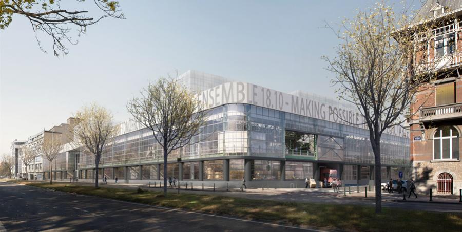 Noaarchitecten, EM2N, Sergison Bates Architects, Kanal - Centre Pompidou, quai de Willebroeck. Bruxelles, 2017- en cours | © Secchi Smith